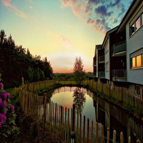 Wohngemeinschaft Appenhagen bei Sonnenuntergang