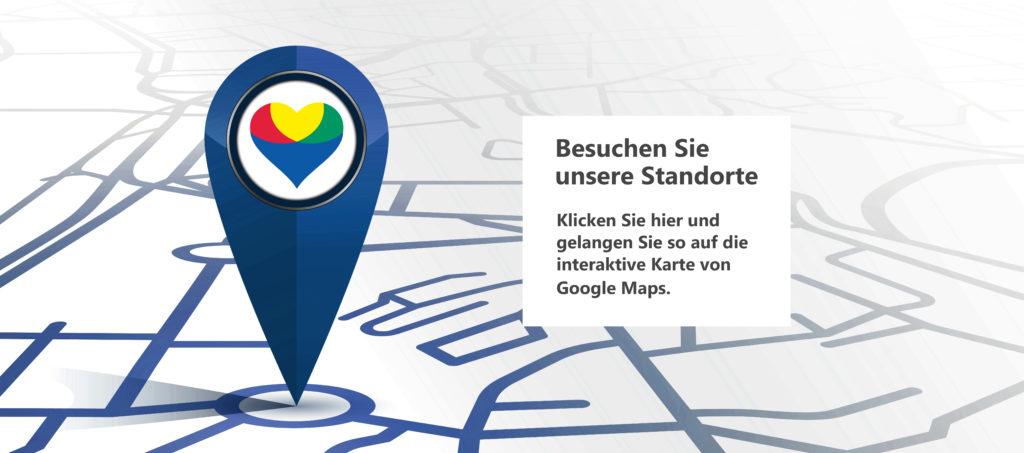 Interaktive Karte die alle Standorte von Reinery zeigt
